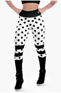 Calça Legging Sublimada Black Spotted | Ref: K2303-A