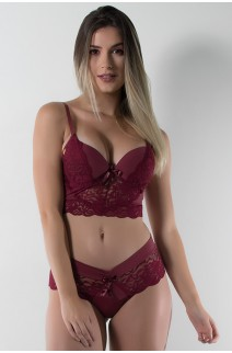 Conjunto Ana Clara 503 (Vinho) | Ref: CEZ-TT503-008
