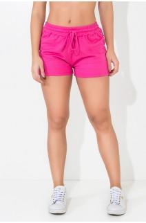 Short de Moletim com Cadarço (Rosa Pink) | Ref: KS-F1835-001
