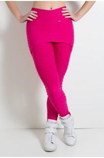 Calça Saia Tecido Bolha (Rosa Pink)   Ref: KS-F225-004