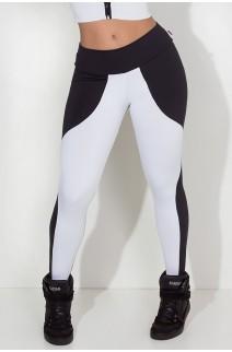 Calça Legging Duas Cores (Preto / Branco) | Ref: KS-F29-002