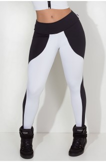 Calça Legging Duas Cores (Preto / Branco)   Ref: KS-F29-002