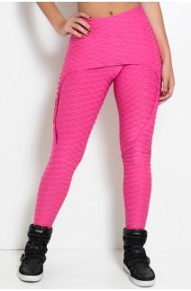 Calça Aranha Tecido Bolha (Rosa Pink) | Ref: KS-F309-003