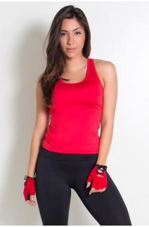 Camiseta Fitness Júlia  (Vermelho) | Ref: KS-F39-002