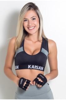 Caleira para Academia Unissex (Preto) | Neoprene | Logo Refletiva Kaisan | (O Par) | Ref: KS-F55-004