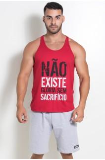 Camiseta Regata (Não Existe Glória Sem Sacrifício) (Vermelho) | Ref: KS-F519-003