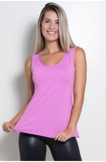 Camiseta de Microlight Nadador com Alça Dupla (Fucsia) | Ref: KS-F1022-010