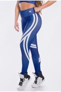 Calça Legging Sublimada Crayon Bleu | Ref: K2509-A