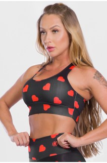 Top Sublimado Red Hearts | Ref: K2528-A