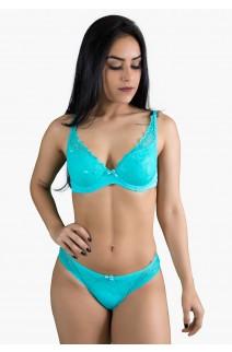 Conjunto Lingerie Thais 502 (Verde Piscina) CEZ-PC502-004