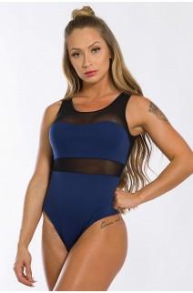 Body com Detalhe em Tule (Azul Marinho) (Com Bojo Removível) | Ref: K2436-C