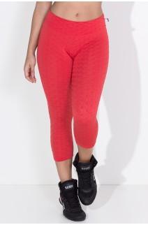 Calça Corsário Tecido Bolha (Vermelho) | Ref: KS-F105-008