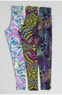 Kit 3 (Três) Leggings com Estampas Variadas | Ref: KS-F1339