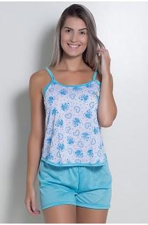 Babydoll Feminino 025 (Azul)  CEZ-PA025-007