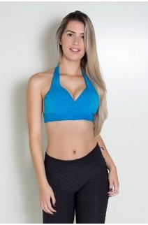 Top Tecido Bolha com Bojo (Azul Celeste) | Ref: KS-F271-006