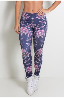 Legging com Tribal com Flores Sublimada | Ref: KS-F1895
