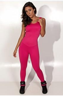 Macacão Longo Fitness Costa Aberta Jú (Rosa Pink) | Ref: KS-F26-001