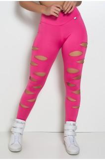 Calça Alana Rasgada (Rosa Pink) | Ref: KS-F566-002