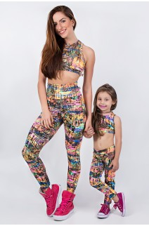 Kit com 5 (cinco) Leggings Infantis com Estampas Variadas (P) | Ref: KS-KI01-001