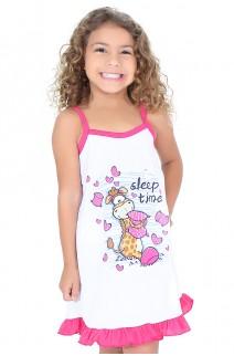 Camisola Infantil 141 (Pink com girafinha) | Ref: CEZ-PA141-003