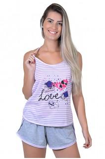 Babydoll Feminino 258 (Lilás love) | Ref: CEZ-PA258-005