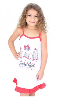 Camisola Infantil 141 (Vermelha com ursinho) | Ref: CEZ-CM010-002