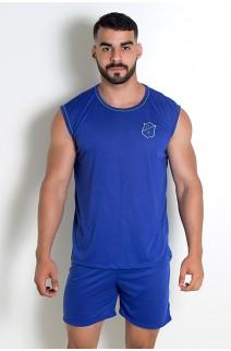 Pijama Masculino Camiseta 072 (Azul)