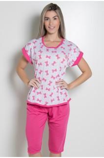 Pijama Pescador 032 (Pink - Laços Estampados) CEZ-PA032-007