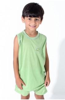 Pijama infantil Mas. Regata 142 (Verde Claro)