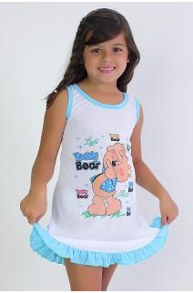 Camisola Infantil 060 (Azul com ursinho)