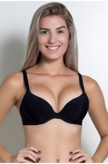 Soutien Push UP Lazer ZR0301 (Preto) | Ref: KS-B250-001