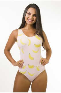 Body Sublimado Cavado nas Costas (Bananas) | Ref: BD100-041-002