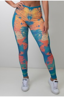 Calça Feminina Legging Sublimada Colorful Scale | Ref: CAL416-041