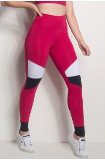 Calça 3 Cores Com Detalhe No Tornozelo (Rosa Pink / Branco / Preto) | Ref: CAL427-006/002/001