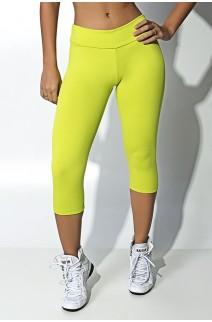 Calça Corsário  (Verde Limão) | Ref: KS-F73-014