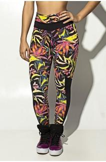 Calça Estampada com Detalhe Liso Grazi | F251