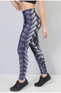 Calça Legging Sublimada New Braided Gray | Ref: CA440-041-000