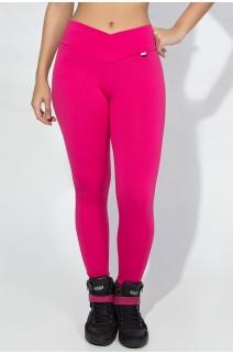 Legging Rafaela Lisa com Cós Transpassado (Rosa Pink) | Ref: KS-F465-006