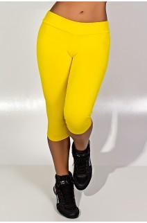 Calça Corsário  (Amarelo) | Ref: KS-F73-013