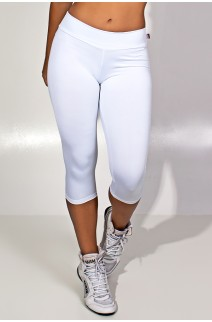 Calça Corsário  (Branco) | Ref: KS-F73-017
