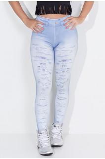 Legging Jeans Rasgado Sublimado | Ref: KS-F1797-001