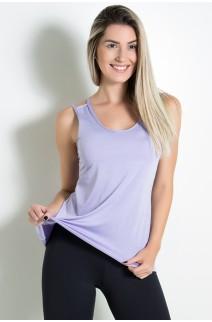 Camiseta de Microlight Nadador com Alça Dupla (Lilás) | Ref: KS-F1022-006
