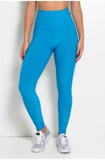 Calça Legging Tecido Bolha (Azul Celeste) | Ref: KS-F103-011