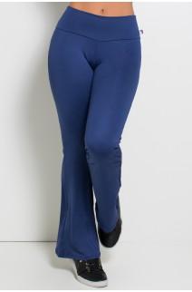 Calça Feminina Flare Boca de Sino (Azul Marinho) | Ref: KS-F150-002
