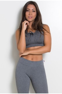 Cropped Mescla com Regulagem no Busto | Ref: KS-F1736