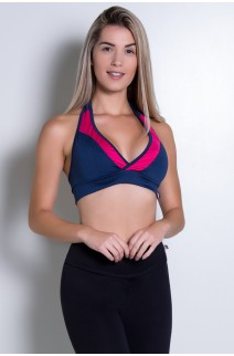 Top  (Azul Marinho / Rosa Pink) | Ref: KS-F20-008