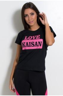 Camiseta Feminina Love Kaisan (Preto) | KS-F232-001