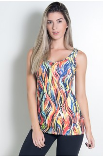 Camiseta Estampada (Abstrato Fluor 3) | Ref: KS-F256-004