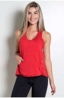 Camiseta Dry Fit com Bolso Marissol (Vermelho) | Ref: KS-F273-005