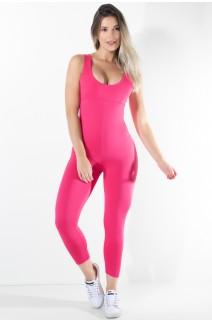 Macacão Liso Viviane (Rosa Pink) | Ref: KS-F275-005